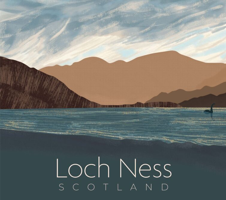 Loch Ness Poster Illustration